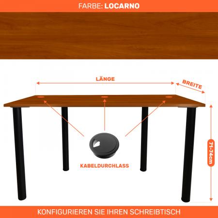Maßgefertigter Schreibtisch Bürotisch Computertisch individuel   Locarno