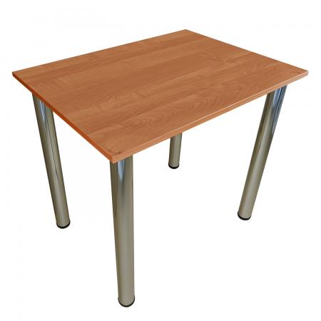 65x65 Esstisch Küchentisch Tisch mit Chrom Beine |Erle
