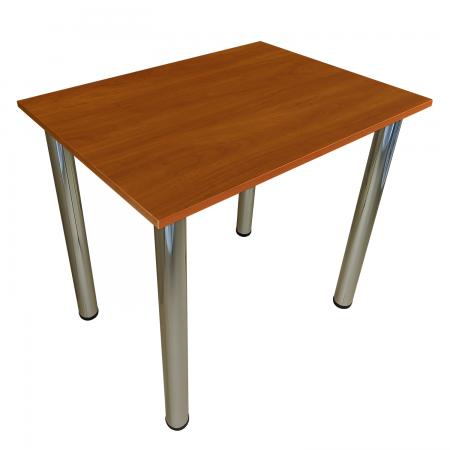 75x50 Esstisch Küchentisch Tisch mit Chrom Beine  Locarno