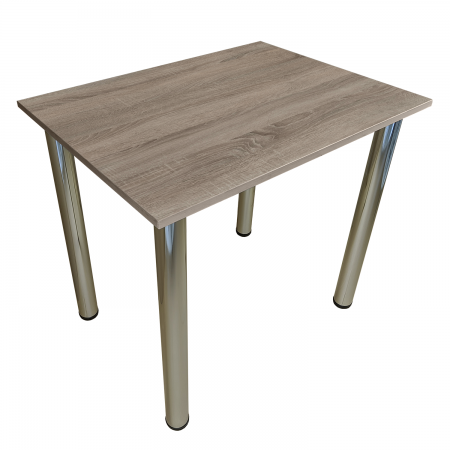 80x40 Esstisch Küchentisch Tisch mit Chrom Beine |Trüffel