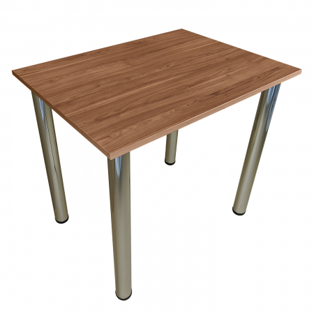 80x50 Esstisch Küchentisch Tisch mit Chrom Beine  Burgund
