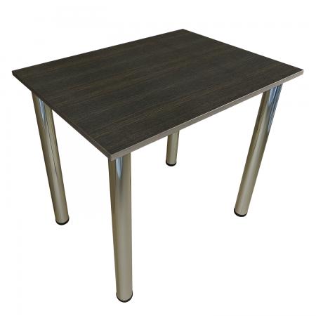 80x60 Esstisch Küchentisch Tisch mit Chrom Beine |Wenge