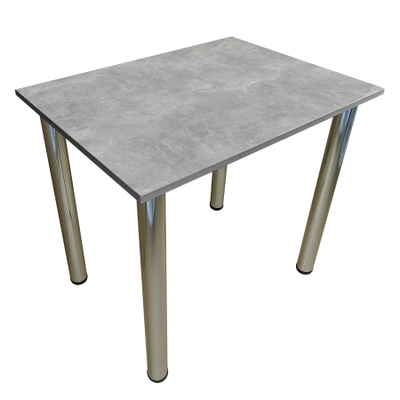 70x50 Esstisch Küchentisch Tisch mit Chrom Beine  Beton