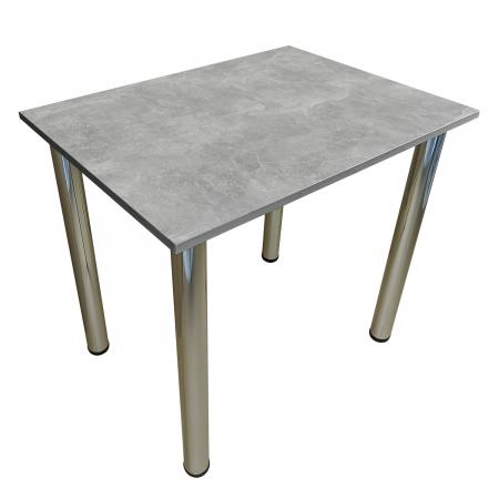80x60 Esstisch Küchentisch Tisch mit Chrom Beine |Beton