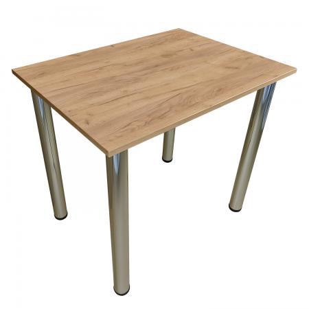 80x60 Esstisch Küchentisch Tisch mit Chrom Beine |Gold Craft