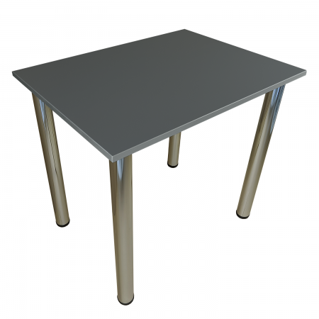 75x50 Esstisch Küchentisch Tisch mit Chrom Beine |Dark Graphite