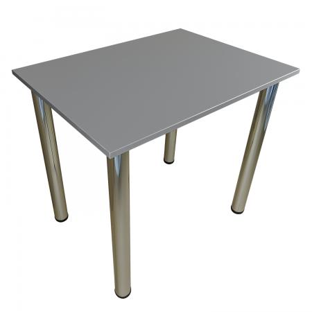 80x60 Esstisch Küchentisch Tisch mit Chrom Beine  Light Graphite